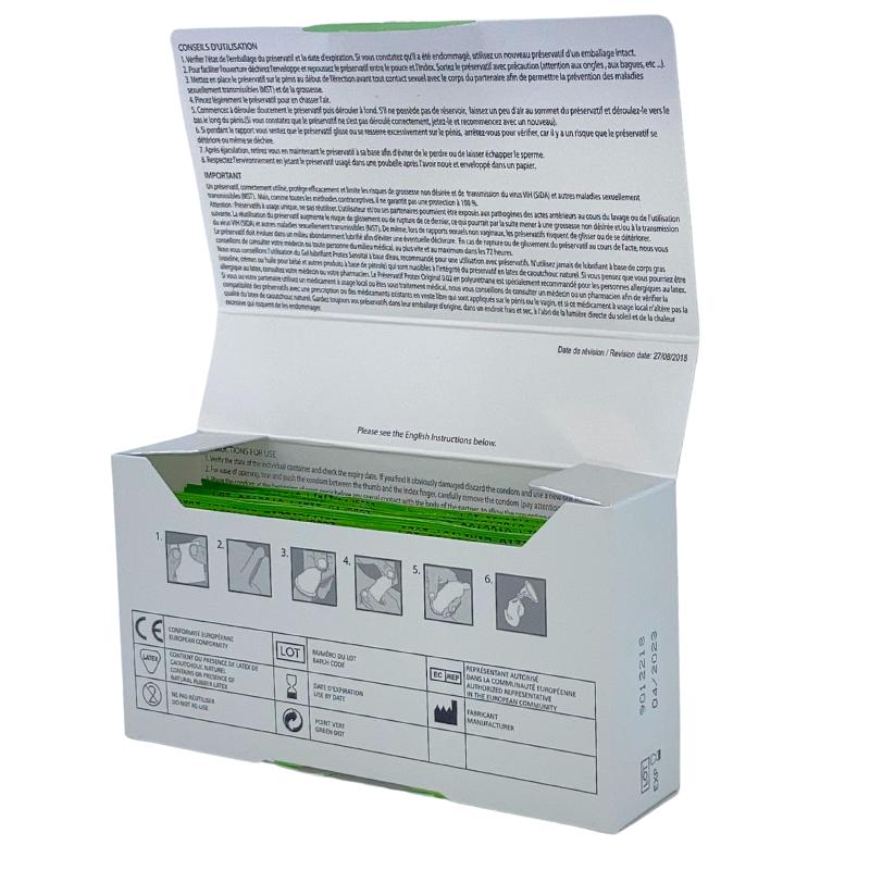 Boîte préservatifs Classic Green 12 ouverte