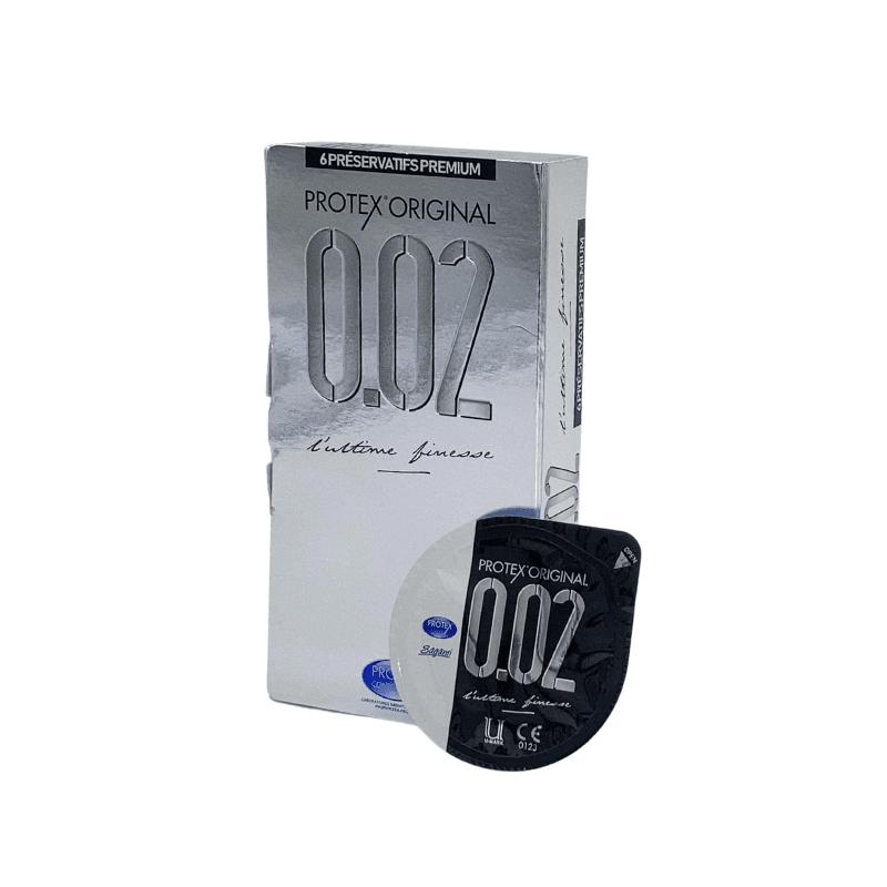 Protex Original 0.02 boîte de 6 préservatifs et capsule