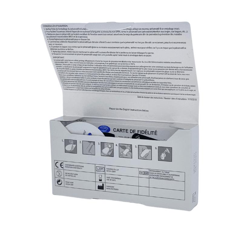 Protex Original 0.02 boîte de 6 préservatifs ouverte